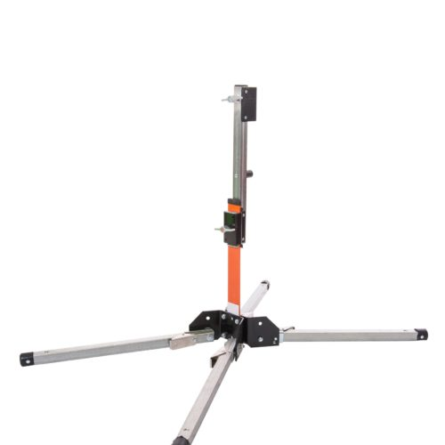 orange, steel, sign stand, out, four legs