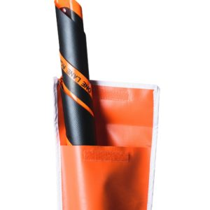 roll up sign orange pocket