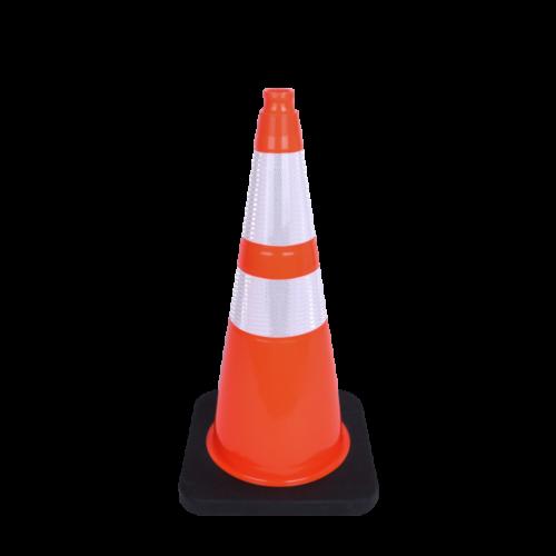 orange and white stripe cone
