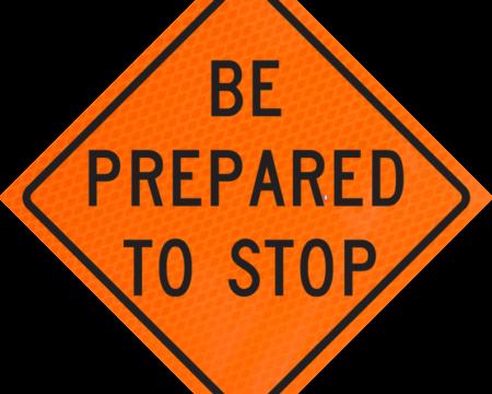 be prepared to stop orange diamond grade roll up