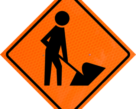 symbol worker orange diamond grade roll up