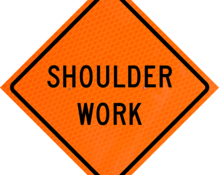 shoulder work orange diamond grade roll up
