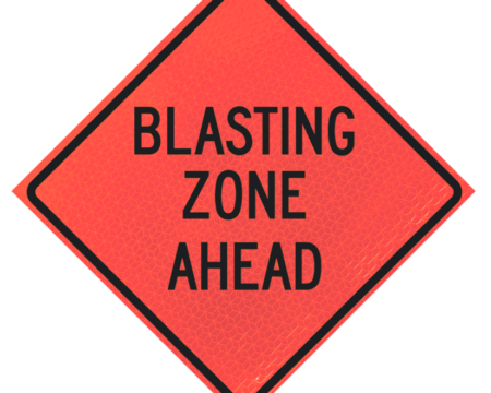 blasting zone ahead deep orange diamond roll up