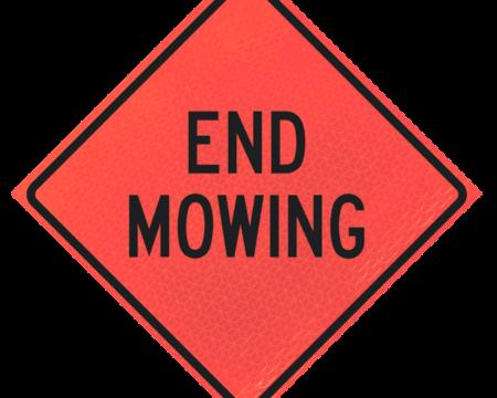 end mowing deep orange diamond roll up