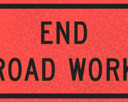 end road work orange bright vinyl