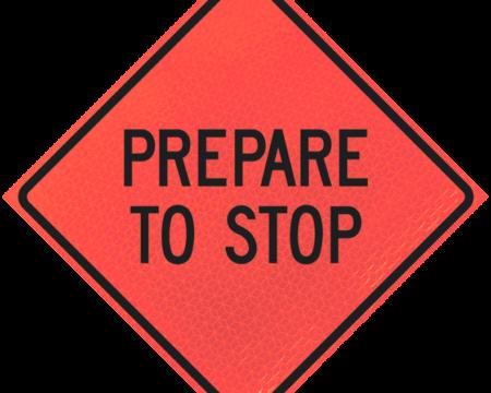 prepare to stop deep orange diamond roll up