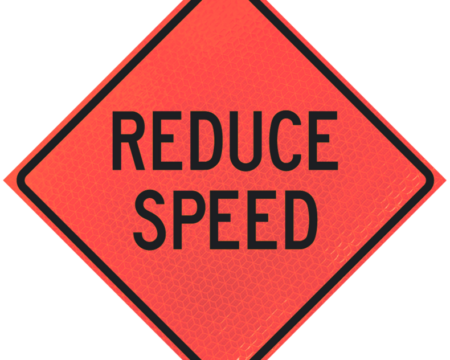 reduce speed words deep orange diamond roll up
