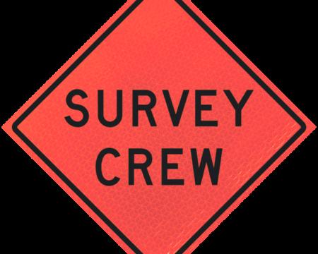 survey crew deep orange diamond roll up