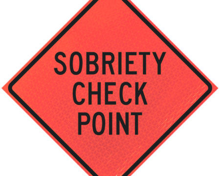 sobriety check point deep orange diamond roll up