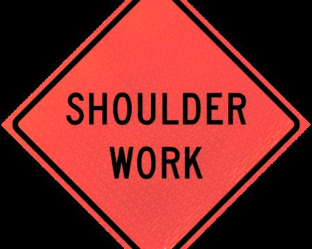 shoulder work deep orange diamond roll up