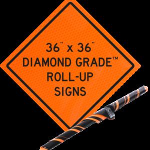 "Diamond Grade™ Roll-Ups 36"" x 36"""
