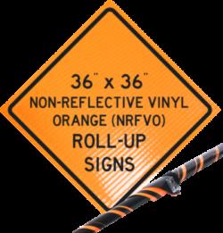 reflective vinyl orange roll up signs nrfvo traffic roll ups