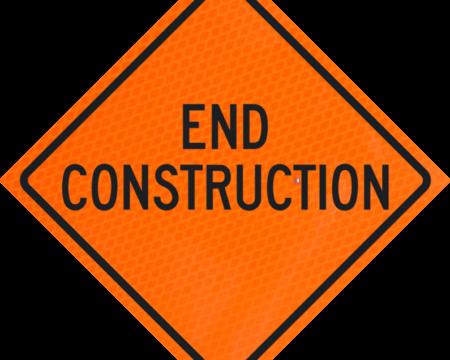 end construction orange diamond grade roll up