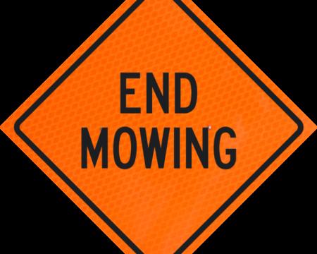 end mowing words orange diamond grade roll up