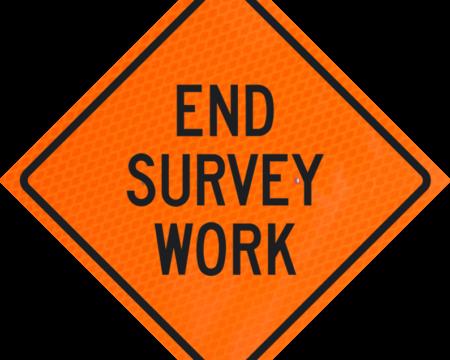 end survey work words orange diamond grade roll up