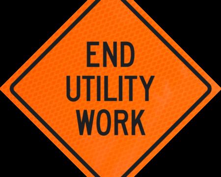 end utility work words orange diamond grade roll up