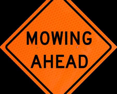 mowing ahead orange diamond grade roll up