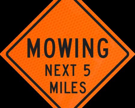 mowing next miles orange diamond grade roll up