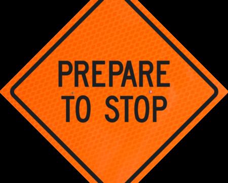 prepare to stop orange diamond grade roll up