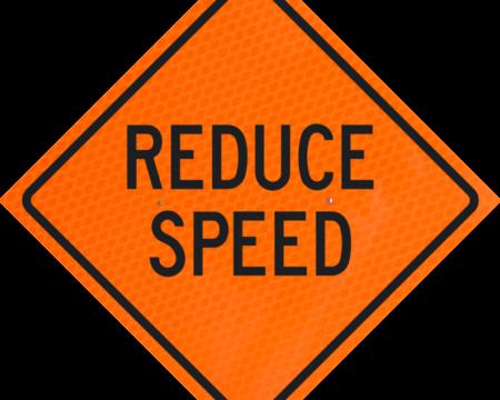 reduce speed orange diamond grade roll up