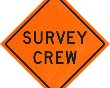 survey crew orange diamond grade roll up