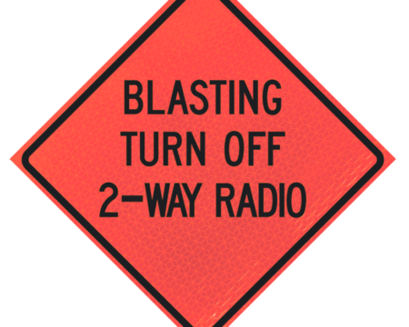 blasting turn off two way radio deep orange diamond roll up