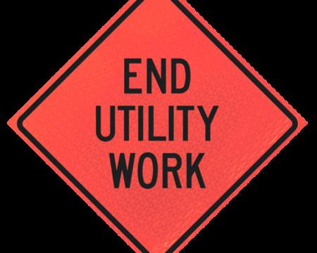 end utility work deep orange diamond roll up