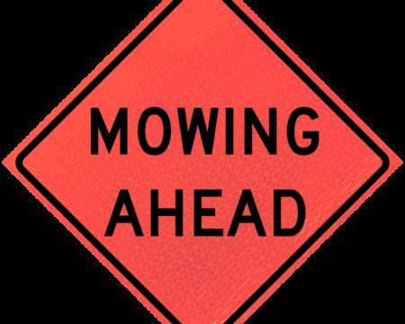mowing ahead deep orange diamond roll up