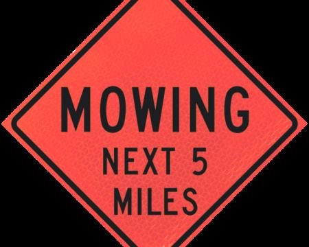 mowing miles ahead deep orange diamond roll up