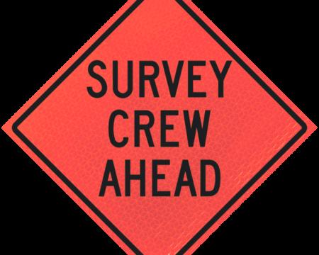 survey crew ahead words diamond roll up