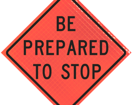 be prepared to stop orange diamond roll up