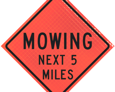 mowing number miles orange diamond roll up