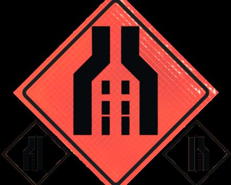 orange vinyl safety sign
