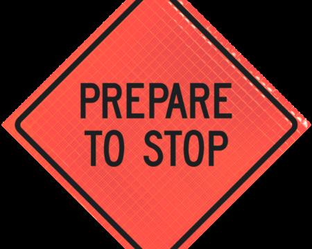 prepare to stop orange diamond roll up