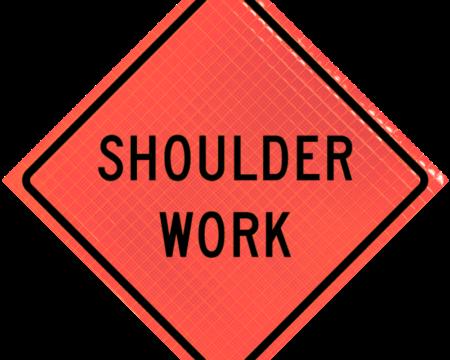 shoulder work orange diamond roll up