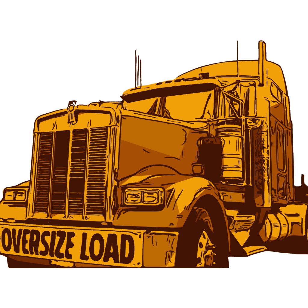 overzise load banner on tractor trailer for sale manufacturing in usa