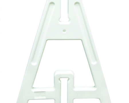 A frame leg white, aframe legs, a-frames, barricade legs, white plastic barricade, plastic barricades