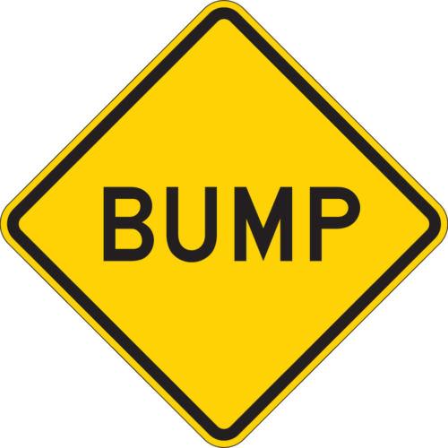 bump diamond yellow sign