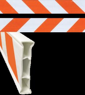 barricade orange and white strip