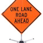 compact sign stand traffic sign stand local road road stand roll up stand rigid sign stand