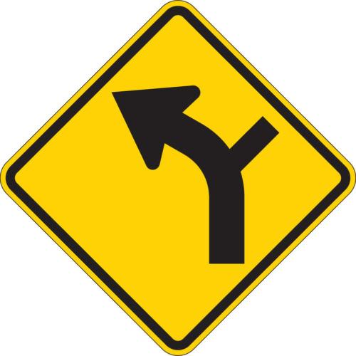 alignment arrow road off yellow diamond sign