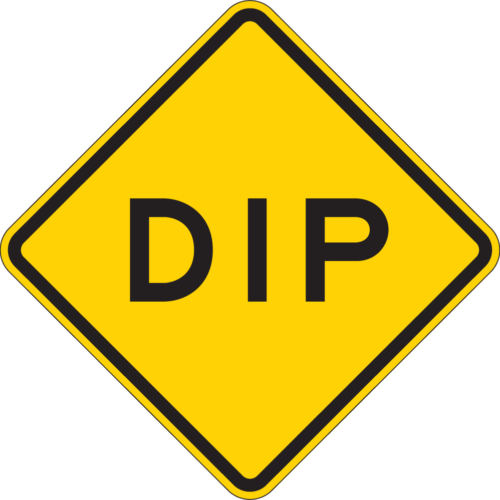 DIP sign yellow diamond