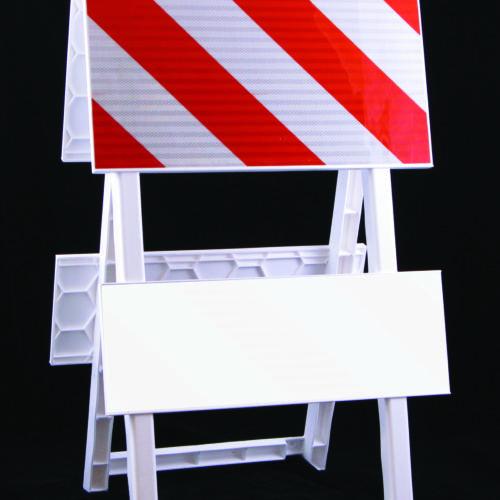 orange white board plasticade type I