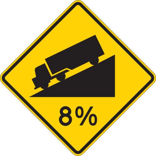 8 percent truck on hill