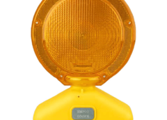 warning flashing light for barricades drums and signs in work zone construction areas