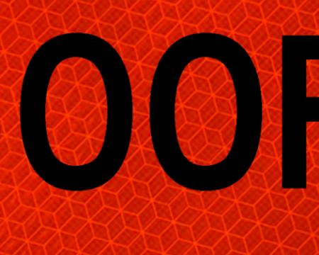 1500 orange safety vinyl sign