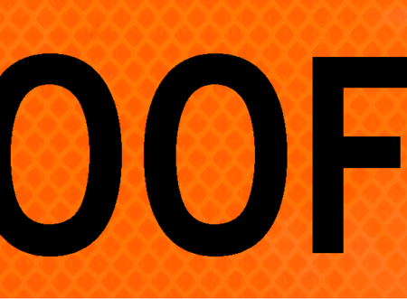 500 feet bright orange vinyl