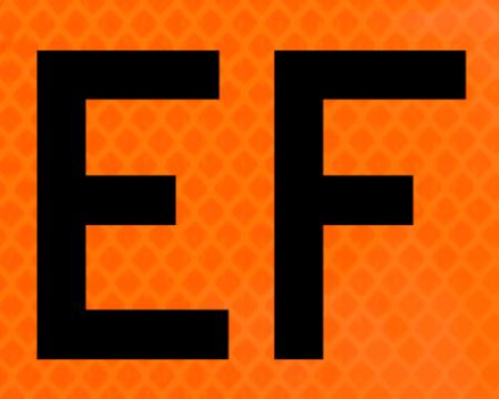 left bright orange vinyl