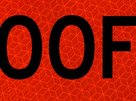 500 feet orange mesh sign