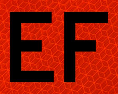 left orange vinyl sign
